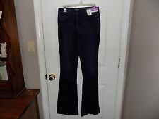 NWT MOSSIMO WOMEN'S HIGH RISE FLARE SUPER STRETCH DARK WASH JEANS SIZE 4R/27