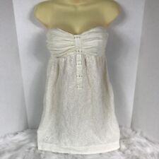 1452a4c67cb4 BCBGENERATION Crochet Strapless Flowy Formal Dance Summer Dress Juniors Size  Med