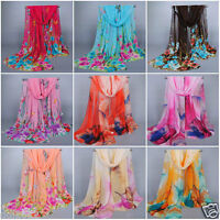 New Fashion Women Ladies Chiffon Soft Scarves Long Wraps Shawl Beach Silk Scarf