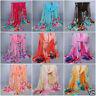 New Fashion Women Ladies Chiffon Soft Scarves Long Wraps Shawl Beach Silk Scarf