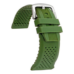 16mm, 18mm, 20mm, 22mm, 24mm Waterproof Silicone Watch Band Strap Rubber Watch