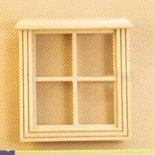 1:12 Möbel Miniatur Puppenhaus Casement Arbeiten Holzhaus Fenster  DE~