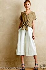 NWT Anthropologie MiH Bleach Out Denim Pull On Culottes Pants Skirt S