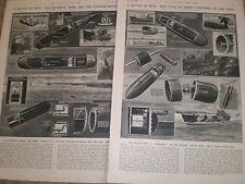 MARINA inglese e la battaglia di ingegno con MINIERE tedesche 1946 stampe e l'articolo ref Z2