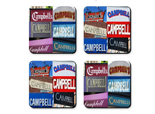 Personalized Coasters featuring the name CAMPBELL in photos of signs - Set of 4