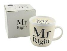 New Leonardo Fine China Mug Beaker Coffee Tea Cup And Coaster Mr Right LP27902