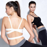 Women Sport Yoga Bra Workout Tank Tops Stretch Racerback Fitness Padded Bra