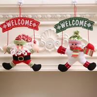 1PC Santa Claus Door Hanging Christmas Tree Home Decor Ornaments Xmas Gift SO