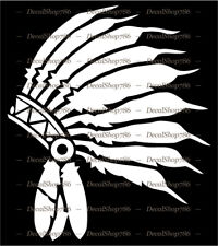 Native American Indian Feather Head Dress - Vinyl Die-Cut Peel N' Stick Decal