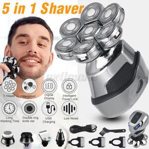 7D Electric Shaver 5IN1 Razor Bald Beard Hair Skull Trimmer Beard Remover Men