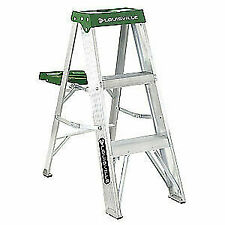 LOUISVILLE AS4003 LOUISVILLE Aluminum Stepladder,Alum,3 ft.,225 lb., AS4003