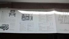 BMW Dixi 3/15 PS Oldtimer alte Auto Werbung Werbeprospekt Broschüre Reklame Heft