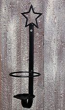 Black Wrought Iron Open STAR Jar Candleholder Primitive Vintage Look Country New
