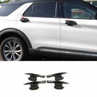 Gloss Black  Exterior Side Door Bowl Cover Trim 4pcs For Ford Explorer 2020-2021