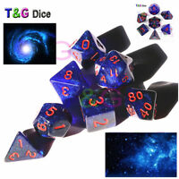 Creative Universe Galaxy Dice Set D4-D20 For D&D Game