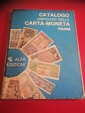 CATALOGO UNIFICATO DELLA CARTA MONETA ITALIANA Ed. Alfa 2001