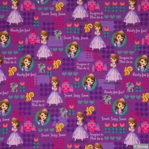Disney-Jersey Sofia die Erste, Jersey Baumwolle, Sofia die Erste Stoff (J256)