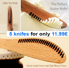 Butter knife Wooden - BUTTER SPREADING KNIFE x5