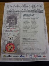 29/03/2014 Colour Teamsheet: Walsall v Shrewsbury Town  (folded). We try and ins