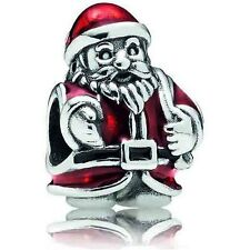 Authentic Pandora Silver 925 #791231enmx St. Nick red slide bead Charm NWOT
