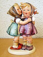 "Goebel Hummel Figurine ""Telling Her Secret"" Hum 196 Tmk2 Full Bee Mint $750 Y633"