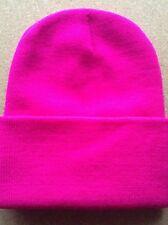 Men's Women Beanie Knit Ski Cap Hip-Hop CERISE PINK Winter Warm Unisex Hat