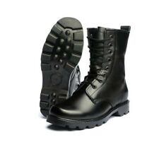 Winter Mens Leather Warm Mid Calf Boots Steel Toe Fur Thicken Military Work Shoe