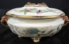 Antique 1874 Royal Worcester Oval Footed Sauce Tureen - Elephant Head Handles