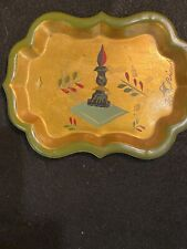 Rare Vintage Mid Century Georges Briard Hand Painted Signed Metal Tray Bar