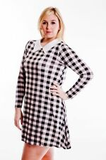 Checked All Seasons Casual Dresses for Women