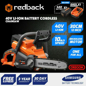 """REDBACK 40V LITHIUM BATTERY 16"""" CHAINSAW & 4AMP BATTERY/ 2AH CHARGER KIT"""
