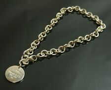 Authentic Tiffany & Co. Necklace return toe tag Sterling Silver #1420