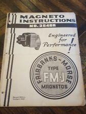 Fairbanks Morse Magneto Instruct /& Parts Manual  FM-XF2B7 /& FM-XFE2B7C Mags *409