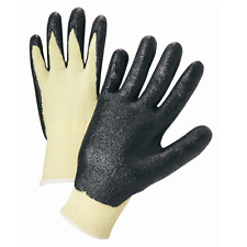 (1 PAIR) KEVLAR CUT RESISTANT WORK GLOVES W/ NITRILE COATING SIZE Small