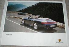 2003 Factory Porsche Poster Porsche 911 40 Years Commemorative Convertible