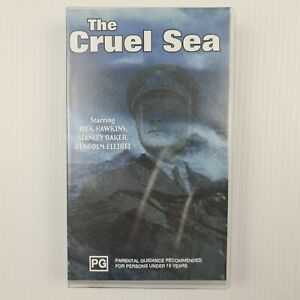 The Cruel Sea VHS Tape- Jack Hawkins/Stanley Baker/Denholm Elliott -TRACKED POST