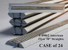 "LIONEL AMERICAN FLYER FASTRACK 30"" STRAIGHT BOX 24 S Gauge AF 2 rail 6-49862 NEW"
