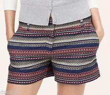 NWT Ann Taylor LOFT Tribal Jacquard Rivera Shorts Size 8P