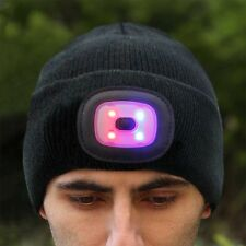 Men Women USB Rechargeable 8 LED Beanie Hat Cap Beanie Camping Night Walk Skiing