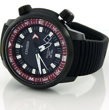 CITIZEN ECO-DRIVE MEN PROMASTER GMT DATE 200m BLACK PVD STEEL 47mm BJ7086-06E