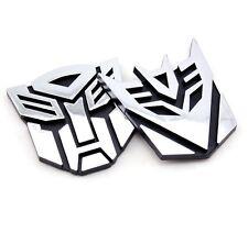 Sale! 3D Chrome Emblem Car Transformer Sticker Autobot Decepticon Badge Stickers