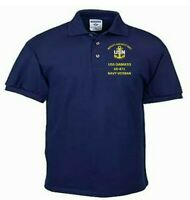 USS DAMATO  DD-871  NAVY ANCHOR EMBROIDERED LIGHT WEIGHT POLO SHIRT