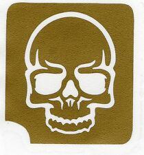 GT24 Body Art Temporary Glitter tattoo Stencil Skull