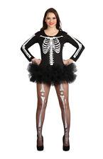 ADULTS LADIES SEXY SKELETON COSTUME BLACK TUTU DRESS HALLOWEEN FANCY DRESS