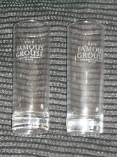 PAIR famous grouse whisky glasses