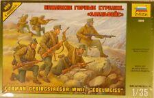 Zvezda 1/35 German Mountain Infantry Edelweiss WWII Figure Model Kit 3599