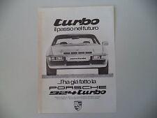 advertising Pubblicità 1979 PORSCHE 924 TURBO