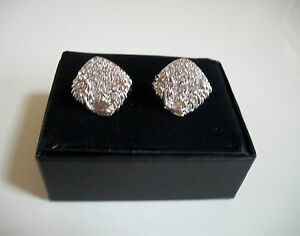 Men's Silver Finish Bling Fashion Dressy Cuff Links Good For Gifts