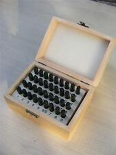 TZ 37pc Steel Letter 5mm Number Security Postcode Punch Stamp Set Wooden Case