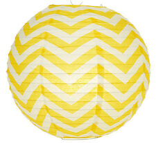 14'' Chinese Japanese Paper Lantern Yellow Chevron Home Wedding Party Decor NEW